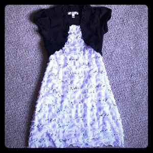 🔴Girls' Sequined Ruffled Dress with Jacket